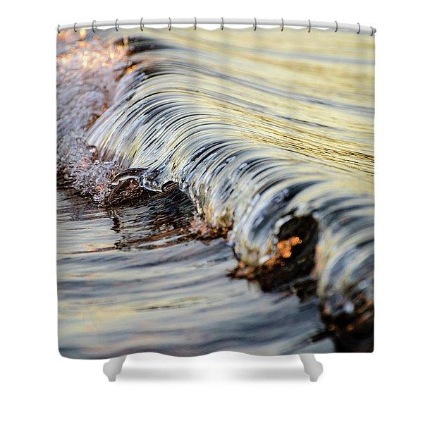 Sunrise Wave Shower Curtain