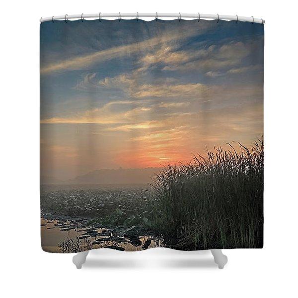 Sunrise Through The Fog Shower Curtain