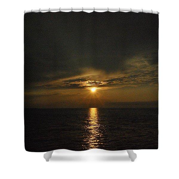Sun's Reflection Shower Curtain