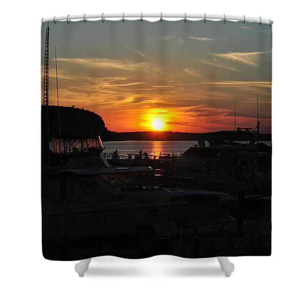Harbor In Ephraim Shower Curtain