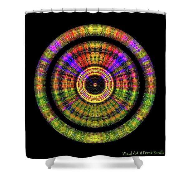 Shower Curtain featuring the digital art Sunset 2, Series II by Visual Artist Frank Bonilla