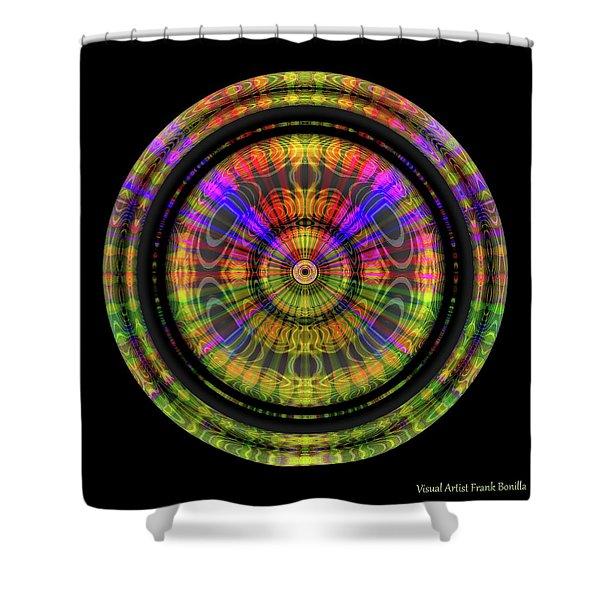 Shower Curtain featuring the digital art Sunset 3, Series II by Visual Artist Frank Bonilla