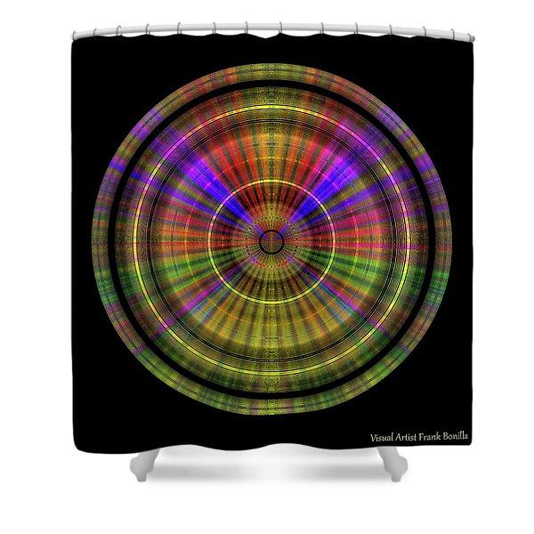 Shower Curtain featuring the digital art Sunset 4, Series II by Visual Artist Frank Bonilla