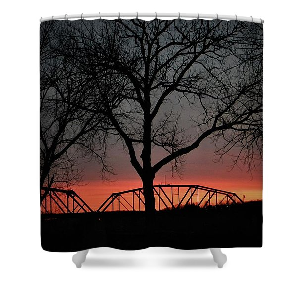 Sunset Across The Cumberland Shower Curtain