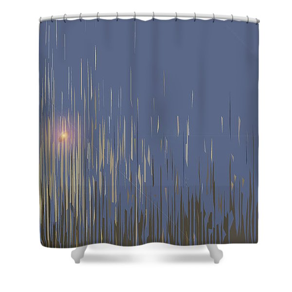 Sunset Across The Lake Shower Curtain