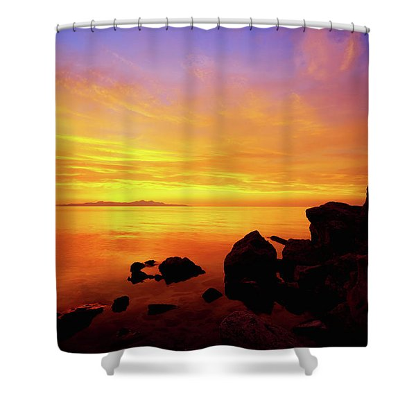 Sunset And Fire Shower Curtain