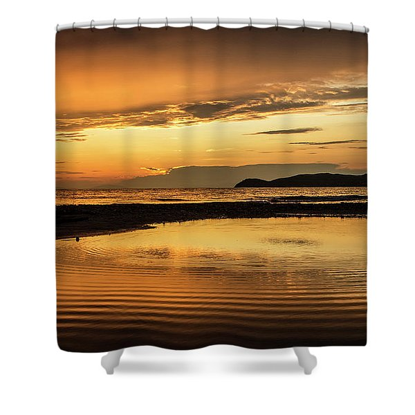 Sunset And Reflection Shower Curtain