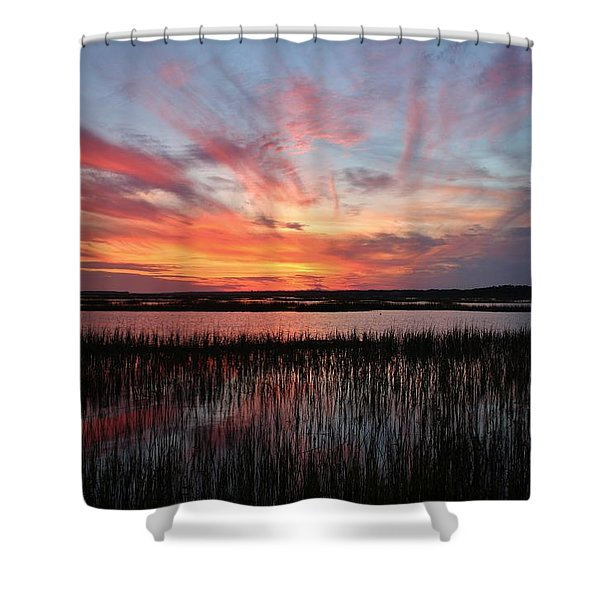 Sunset And Reflections 2 Shower Curtain