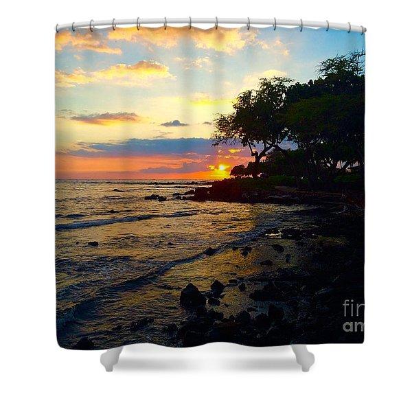 Sunset At A-bay Shower Curtain