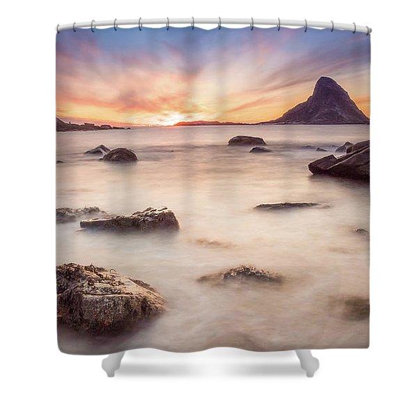 Sunset At Bleik Shower Curtain