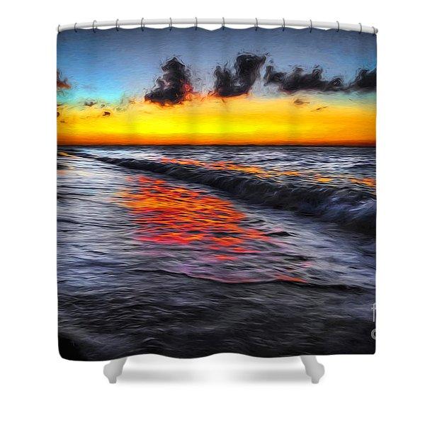 Sunset At Boracay Shower Curtain