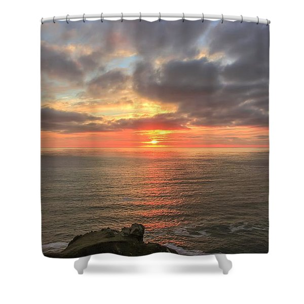 Sunset At Botallack  Shower Curtain