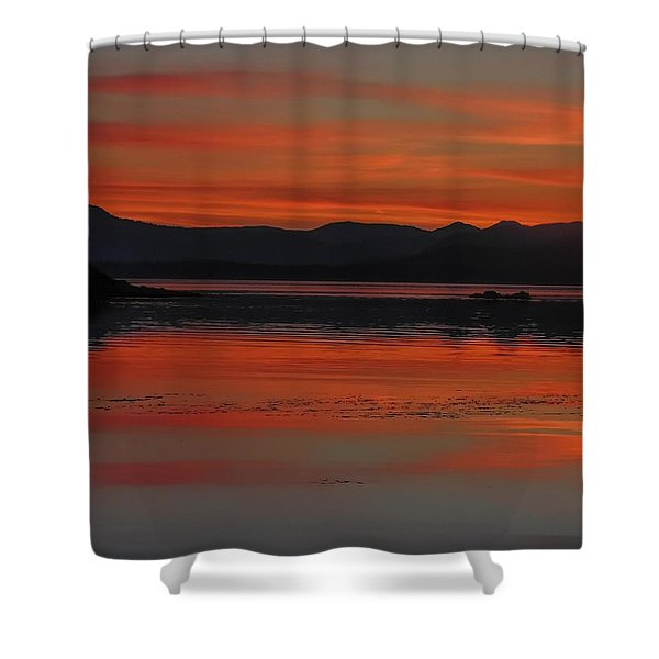 Sunset At Brothers Islands Shower Curtain