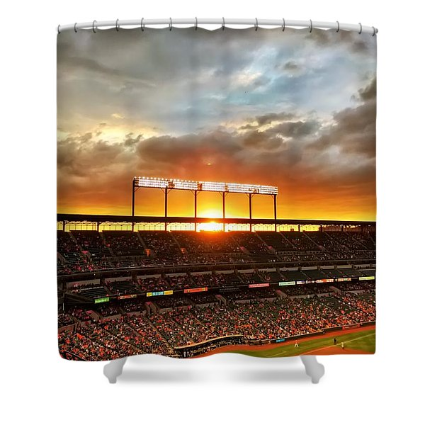 Sunset At Camden Yards Shower Curtain