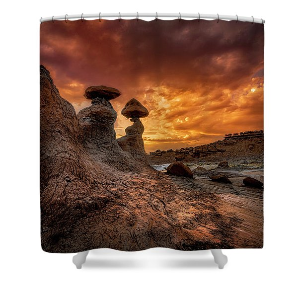 Sunset At Goblin Valley Shower Curtain