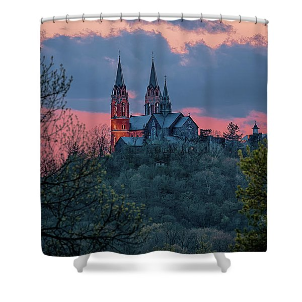 Sunset At Holy Hill Shower Curtain