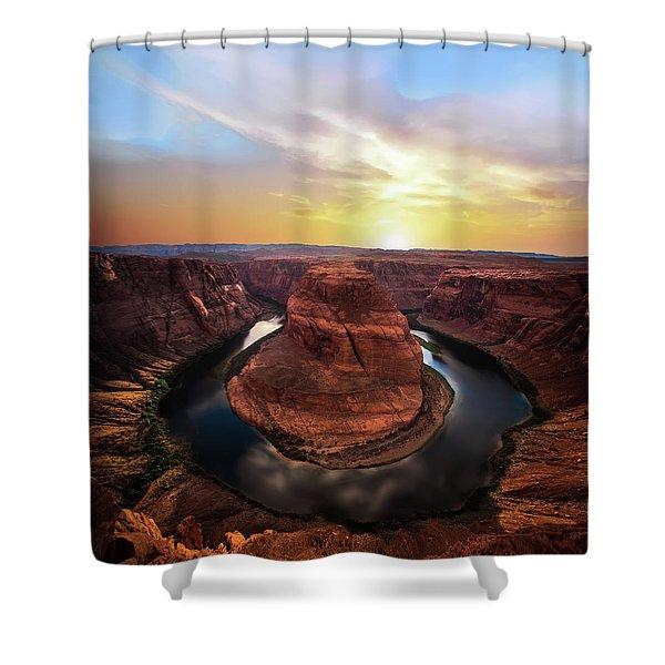 Sunset At Horseshoe Bend Shower Curtain
