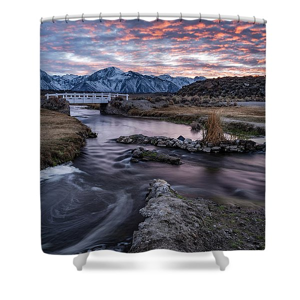 Sunset At Hot Creek Shower Curtain