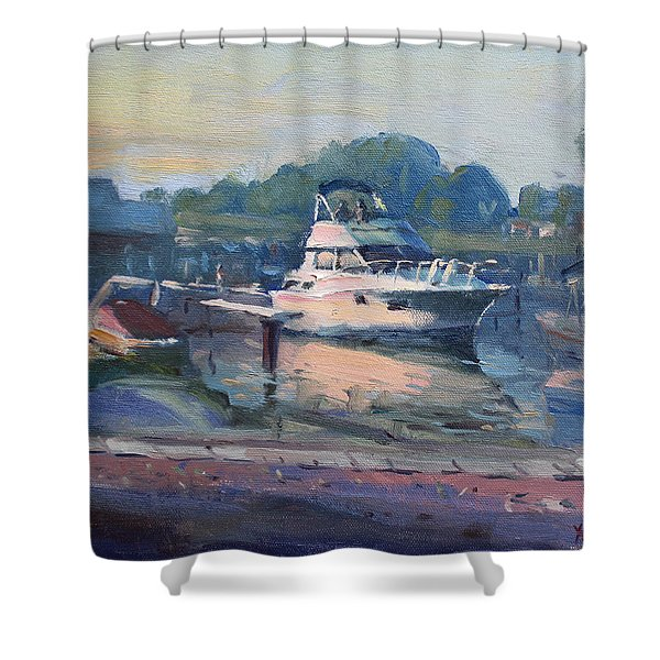 Sunset At Kellys And Jassons Boat Shower Curtain