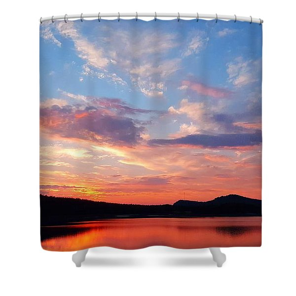 Sunset At Ministers Island Shower Curtain