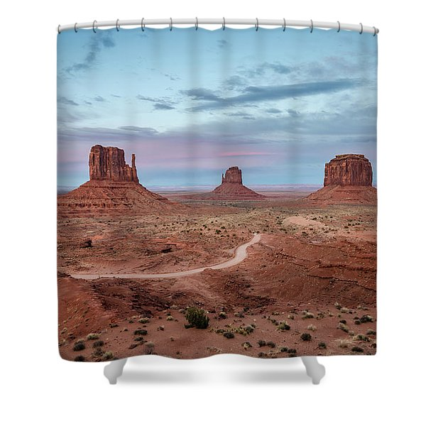 Sunset At Monument Valley No.1 Shower Curtain