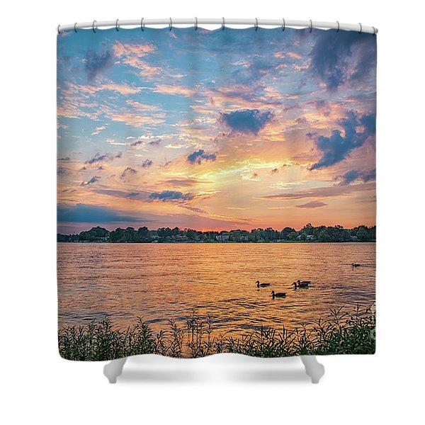 Sunset At Morse Lake Shower Curtain