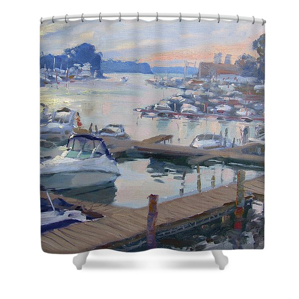 Sunset At North Tonawanda Harbor Shower Curtain