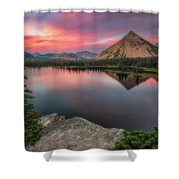 Sunset At Notch Lake Shower Curtain