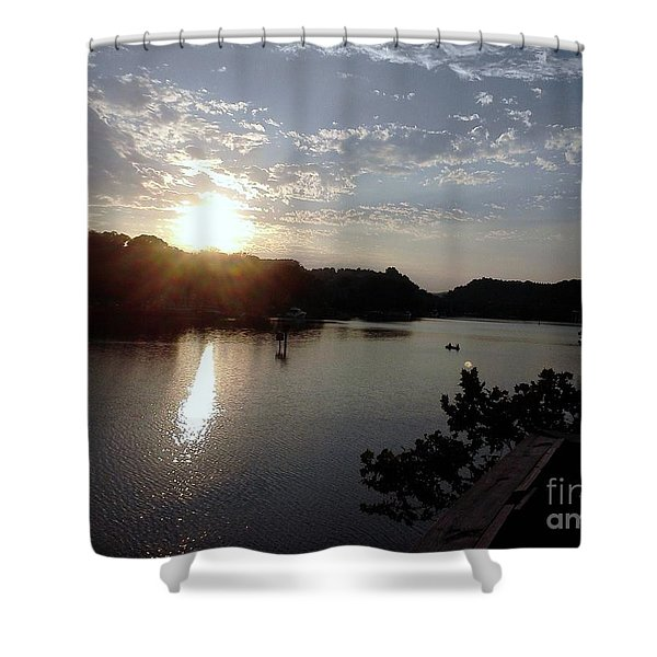 Sunset At Occoquan Shower Curtain