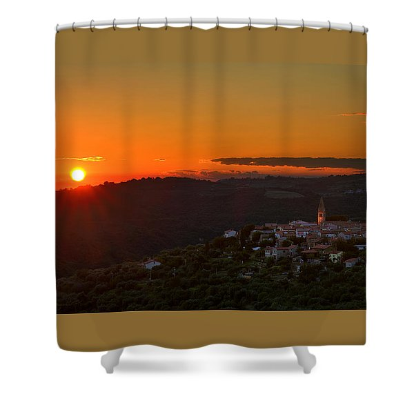 Sunset At Padna Shower Curtain