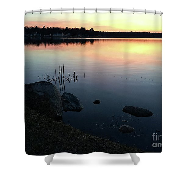 Sunset At Pentwater Lake Shower Curtain
