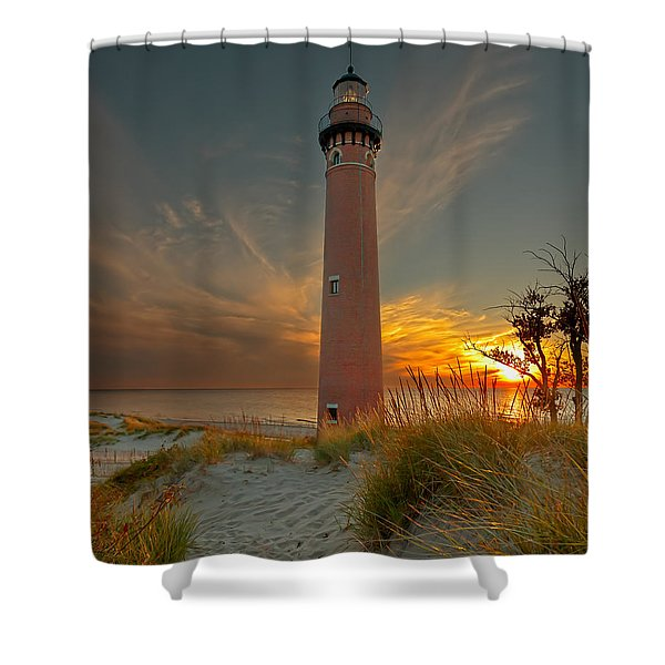 Sunset At Petite Pointe Au Sable Shower Curtain