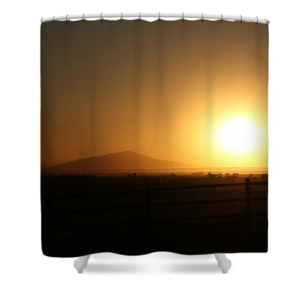 Sunset At Roswell New Mexico  Shower Curtain