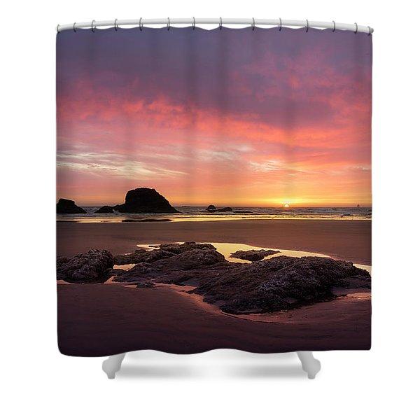 Sunset At Ruby Beach Shower Curtain