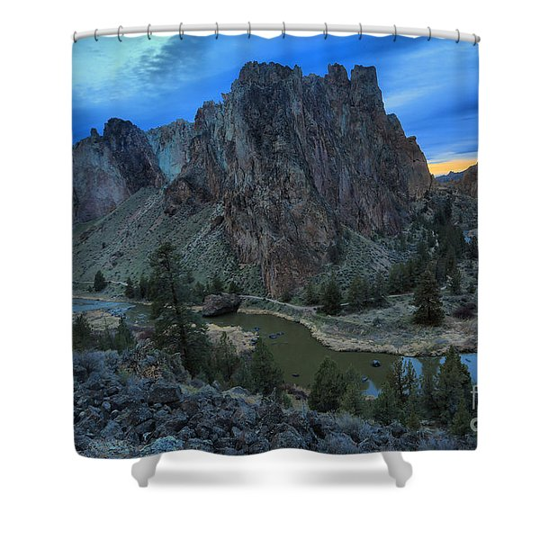 Sunset At Smith Rock Shower Curtain