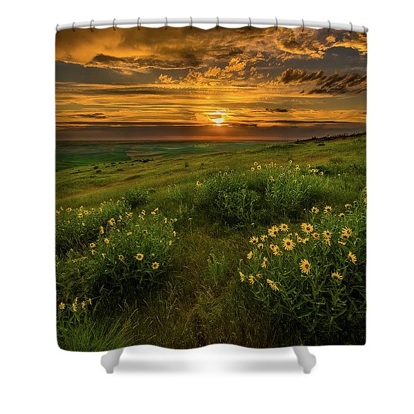Sunset At Steptoe Butte Shower Curtain