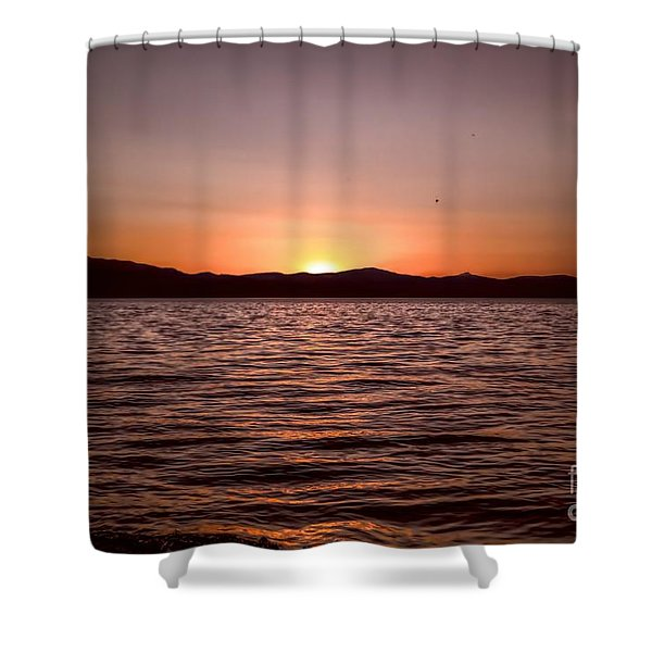Sunset At The Lake 2 Shower Curtain