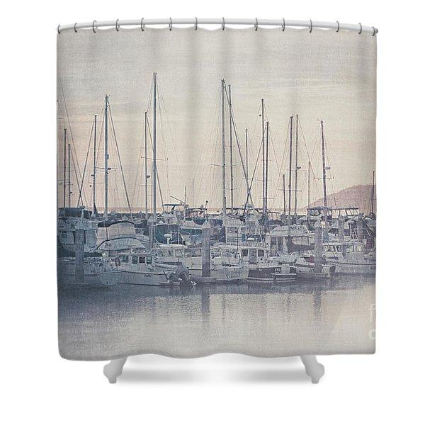 Sunset At The Marina Shower Curtain