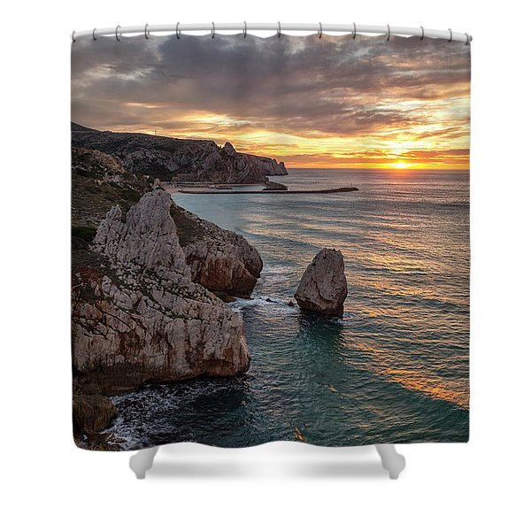Sunset At The Nest Of The Eagle Shower Curtain