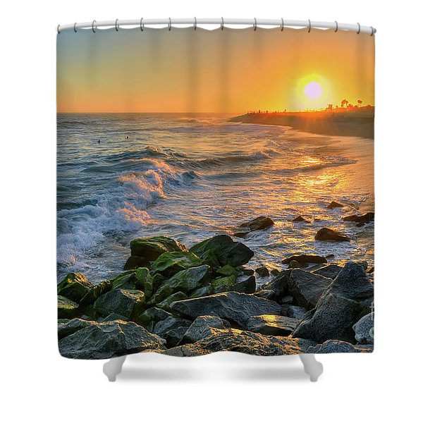 Sunset At The Wedge Shower Curtain