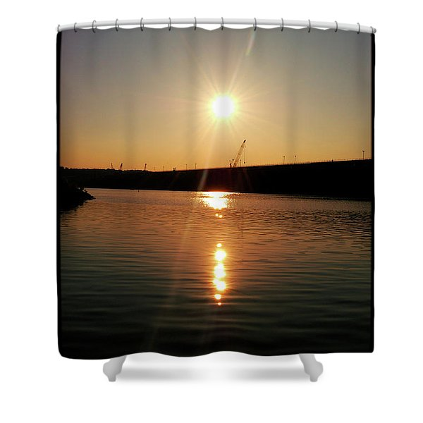 Sunset At Wolf Creek Dam Shower Curtain