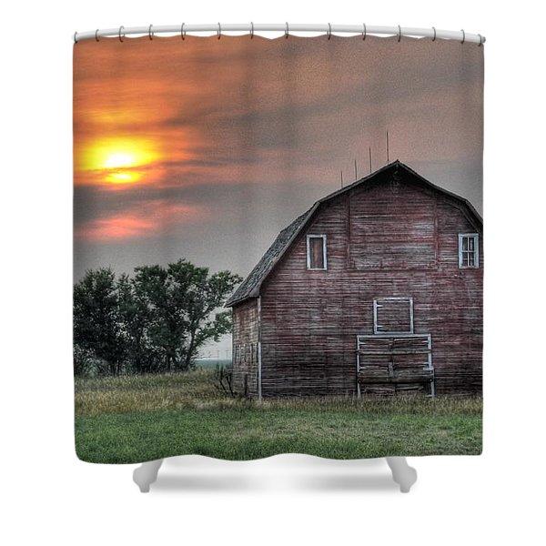 Sunset Barn Shower Curtain