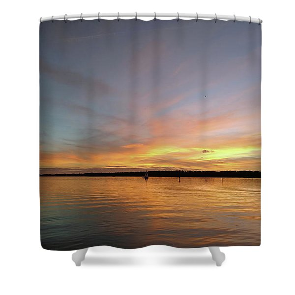 Sunset Blaze Shower Curtain