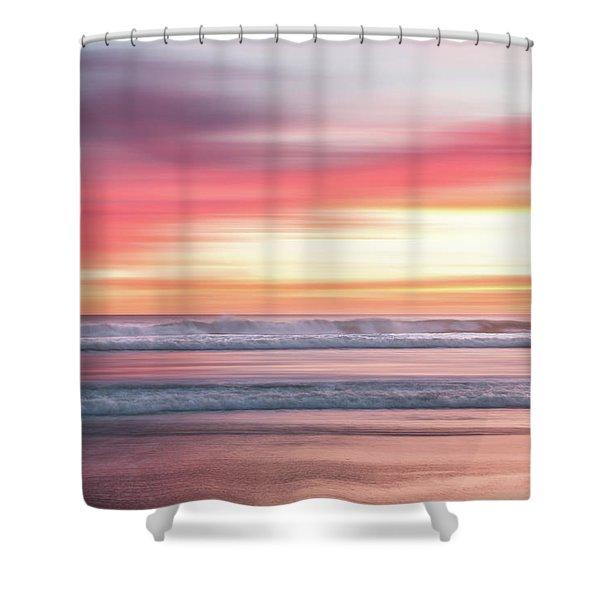 Sunset Blur - Pink Shower Curtain