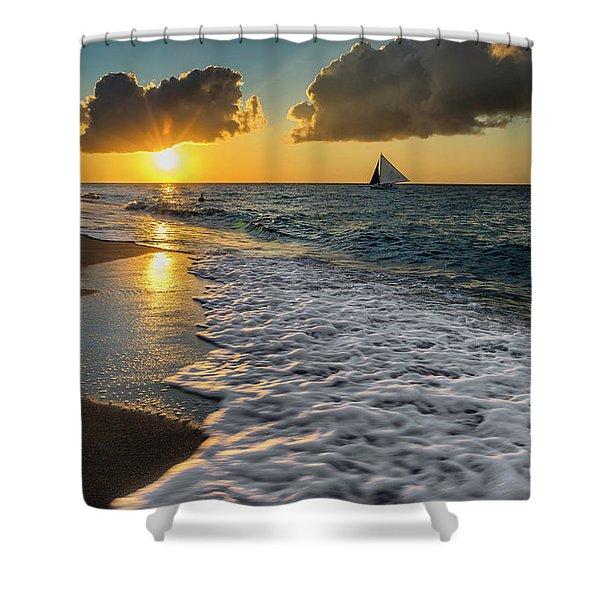 Sunset Boracay Shower Curtain