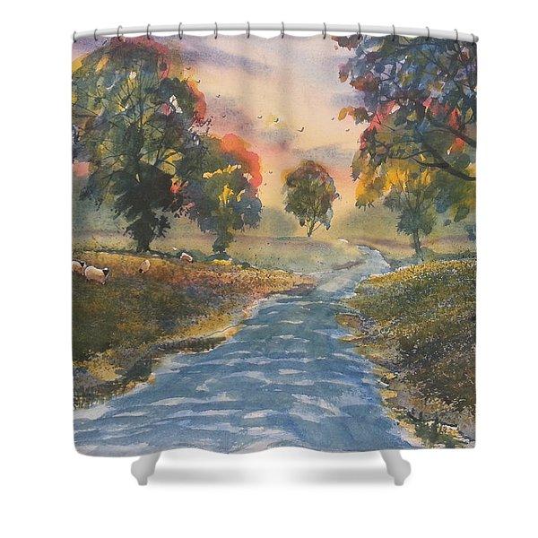 Sunset Boulevard Shower Curtain