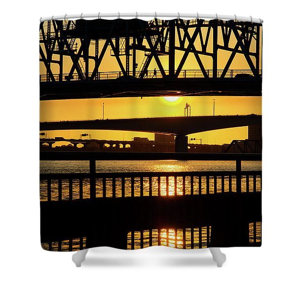 Sunset Bridge 2 Shower Curtain