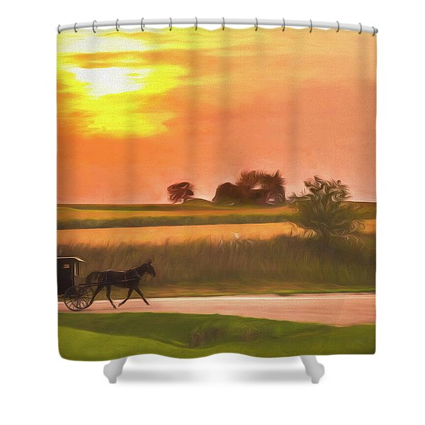 Sunset Buggy Ride Shower Curtain