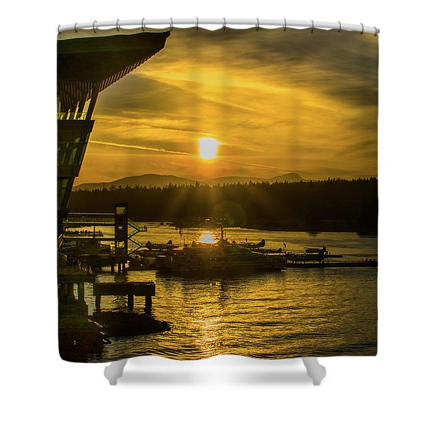 Sunset By The Convention Centre Shower Curtain
