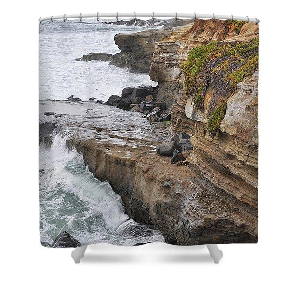 Sunset Cliffs San Diego Portrait Shower Curtain